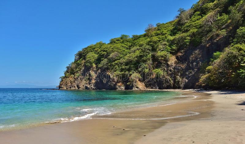 Playa Virador on the Peninsula Papagayo in Guanacaste, Costa Rica. GUANACASTE, COSTA RICA --CIRCA NOV 2012-- The volcanic Peninsula Papagayo, with 31 beaches royalty free stock photo