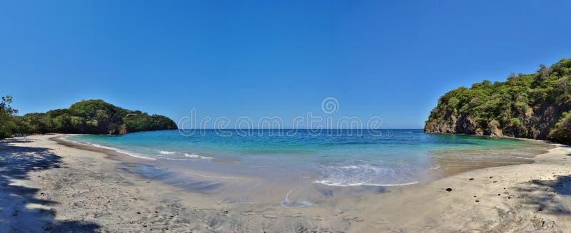 Playa Virador on the Peninsula Papagayo in Guanacaste, Costa Rica. GUANACASTE, COSTA RICA --CIRCA NOV 2012-- The volcanic Peninsula Papagayo, with 31 beaches stock image