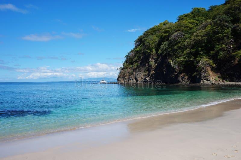 Playa Virador on the Peninsula Papagayo in Guanacaste, Costa Rica. GUANACASTE, COSTA RICA --CIRCA NOV 2012-- The volcanic Peninsula Papagayo, with 31 beaches royalty free stock images