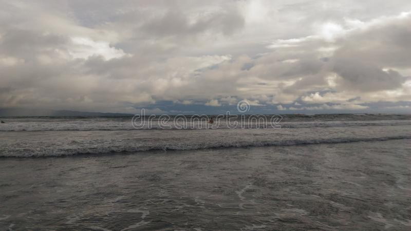 Playa volcánica de Hawaii foto de archivo libre de regalías