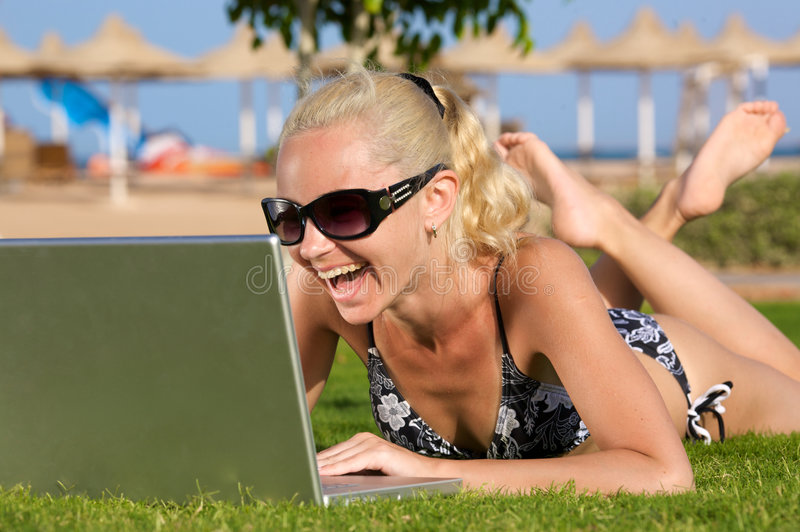 Playa WiFi. fotografía de archivo