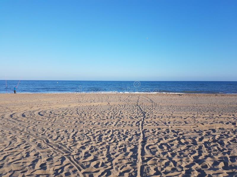 Playa y arena imagenes de archivo