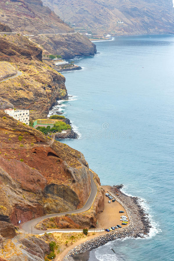 Playa y camino de Gaviotas a San Andres en Tenerife fotos de archivo libres de regalías