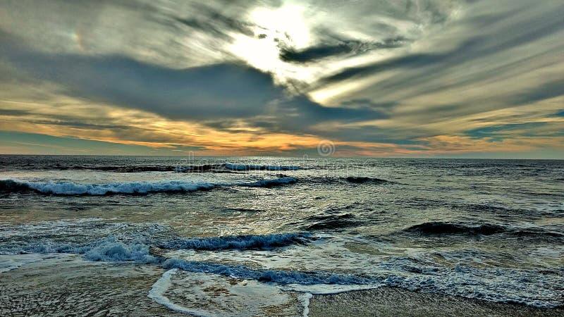 Playa y cielo imágenes de archivo libres de regalías