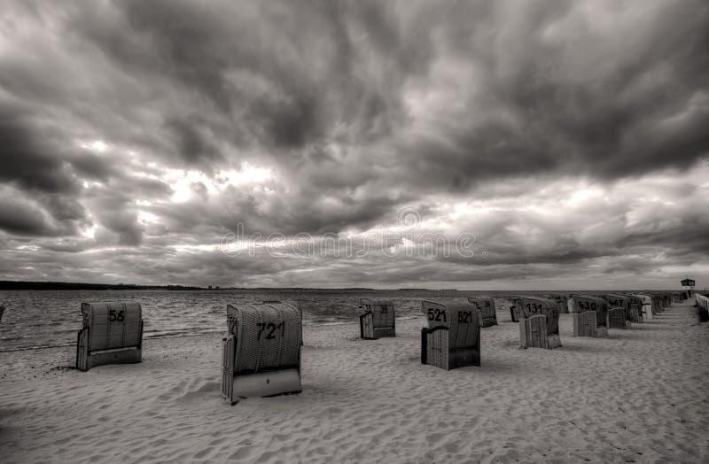 Playa y cielo de Laboe fotos de archivo libres de regalías