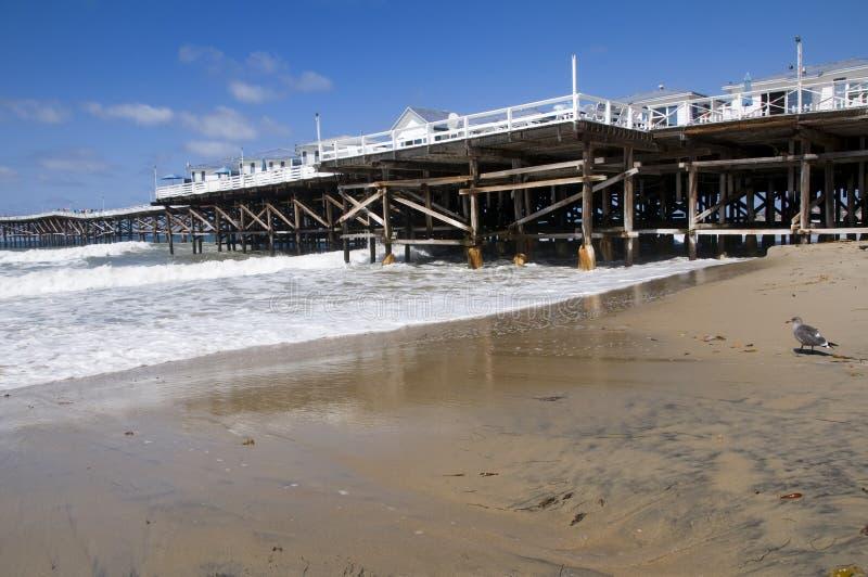Playa y embarcadero en San Diego fotografía de archivo libre de regalías