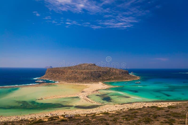 Playa y laguna, prefectura de Chania, Creta del oeste, Grecia de Balos imágenes de archivo libres de regalías