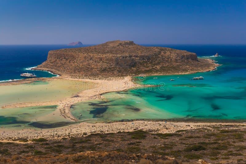 Playa y laguna, prefectura de Chania, Creta del oeste, Grecia de Balos fotos de archivo libres de regalías