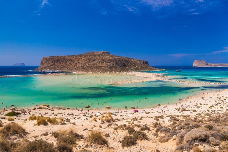 Playa y laguna, prefectura de Chania, Creta del oeste, Grecia de Balos foto de archivo libre de regalías