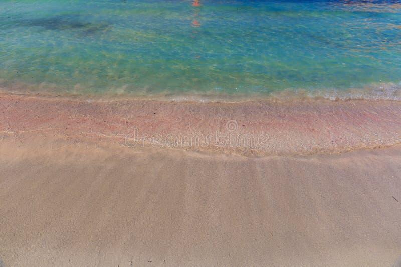 Playa y laguna, prefectura de Chania, Creta del oeste, Grecia de Balos fotos de archivo