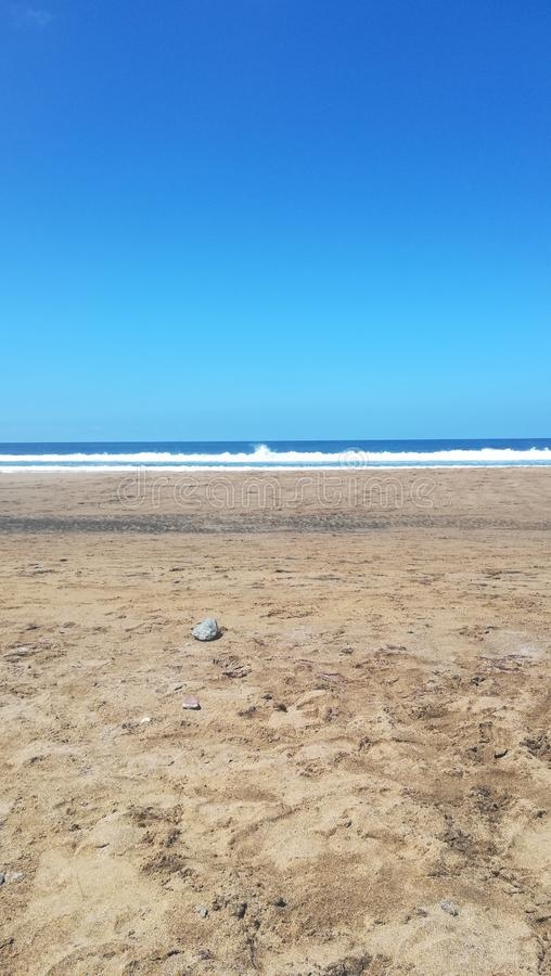 Playa y oc?ano fotografía de archivo