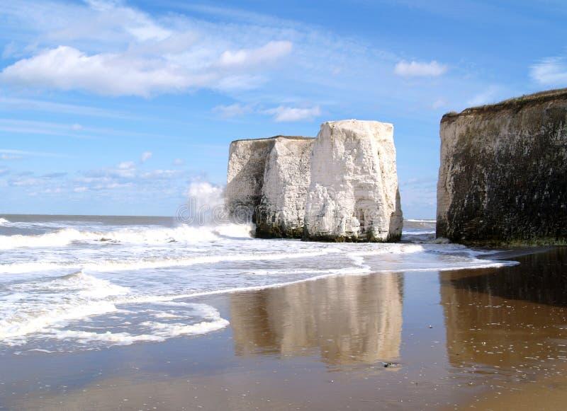 Playa y ondas foto de archivo