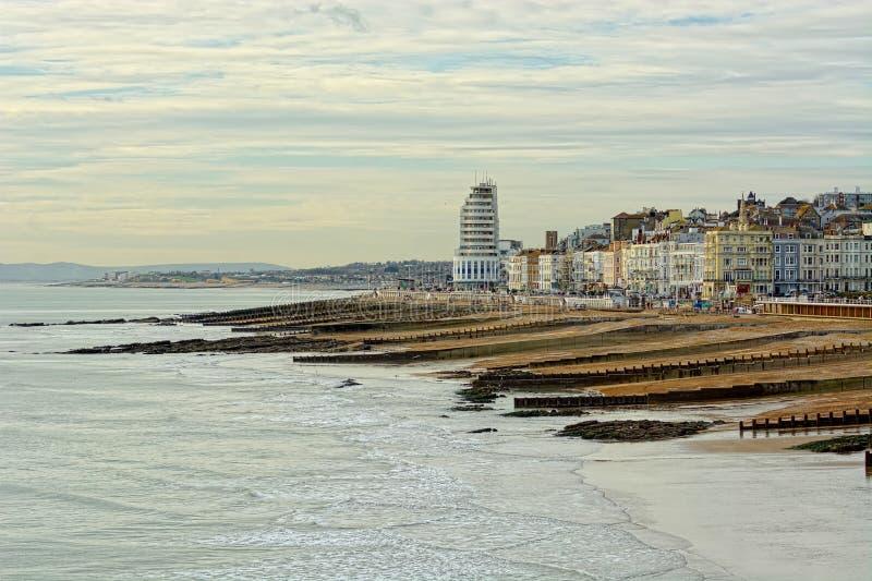 Playa y orilla del mar, Sussex, Reino Unido de Hastings fotos de archivo libres de regalías
