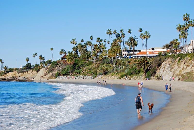 Playa y parque principales en el Laguna Beach, California de Heisler fotografía de archivo libre de regalías