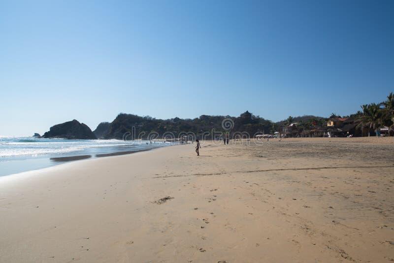 Playa Zipolite, strand in Mexico royalty-vrije stock foto