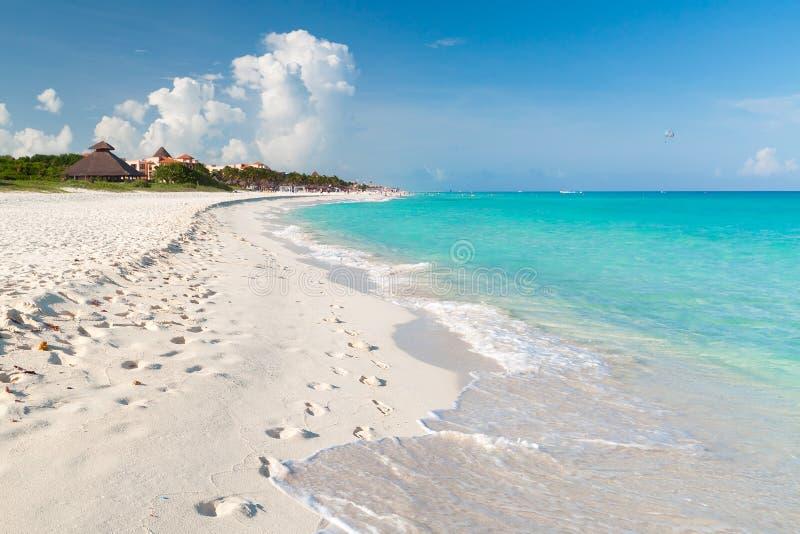 Playacar beach at Caribbean Sea in Mexico