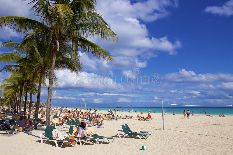 Playa del Carmen beach, Mexico. Playacar and Playa del Carmen beach, Mexico stock photography