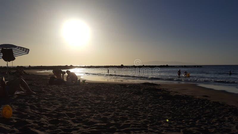 Playas Amériques Ténérife - l'Espagne photos stock