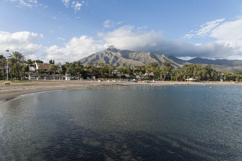 Playas de Costa del Sol, Marbella imagen de archivo