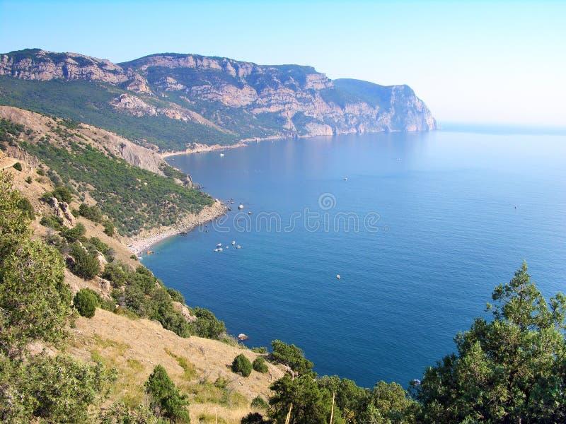 Playas de la ciudad de Balaklava, Crimea fotografía de archivo