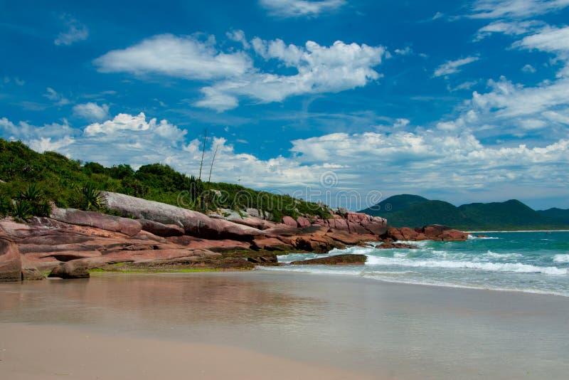 Playas en Florianopolis, el Brasil imagen de archivo