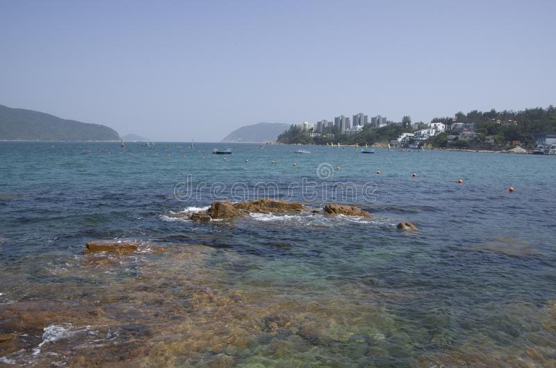 Playas en Hong Kong, Stanley Town foto de archivo