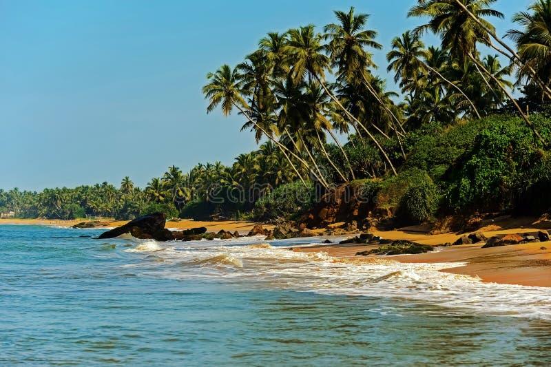 Playas en Sri Lanka fotografía de archivo