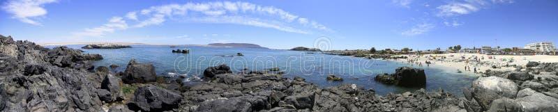 Playas y puerto cerca de Bahia Inglesia, caldera, Chile fotos de archivo