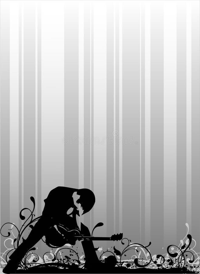 Playbill de la roca en vector ilustración del vector
