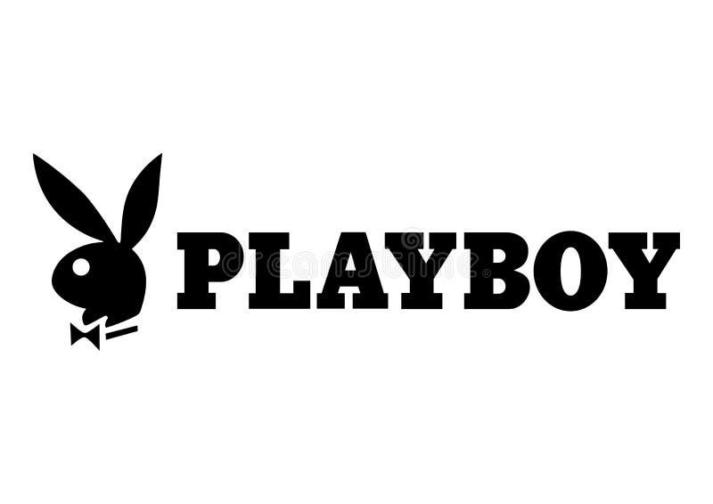 Playboy-embleem vector illustratie