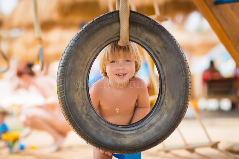 playbround的愉快的孩子 库存照片