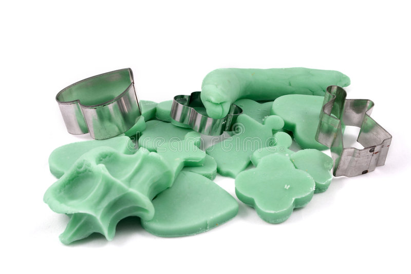 Playdough cookies royalty free stock images