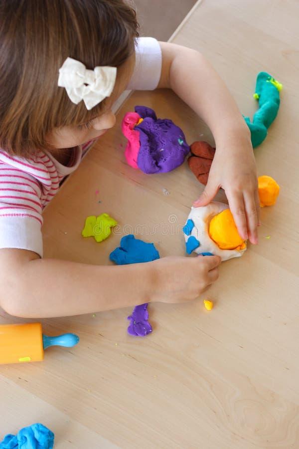 Playdough Spiel stockbild