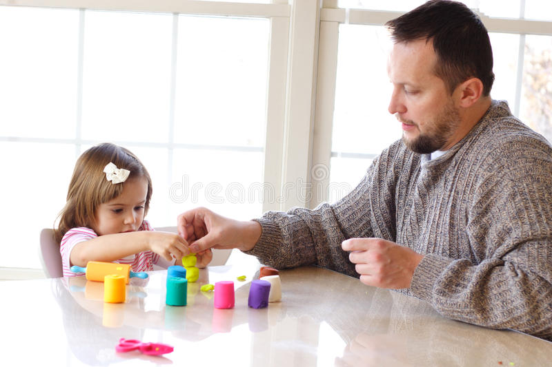 Playdough Spiel stockfoto