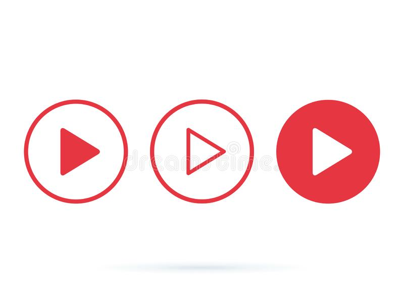Player Button icon sign. Internet online radio streaming listening buttons set for ui, ux design, websites and app. royalty free illustration