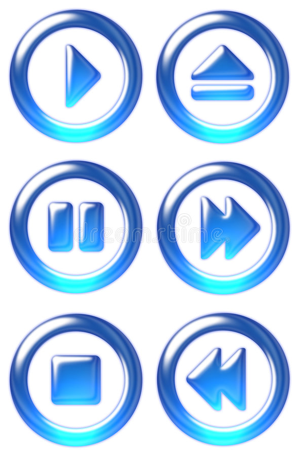 Player buttons royalty free illustration