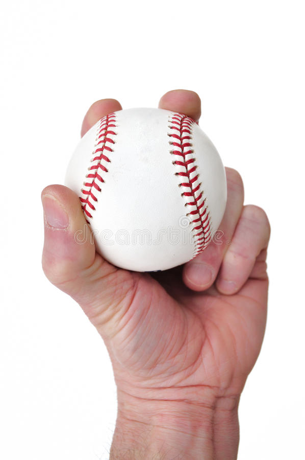 Player Gripping A New Baseball Royalty Free Stock Images