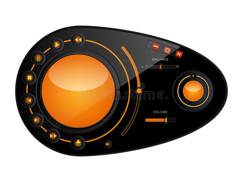 Download Player interface stock vector. Image of illustration - 25545848