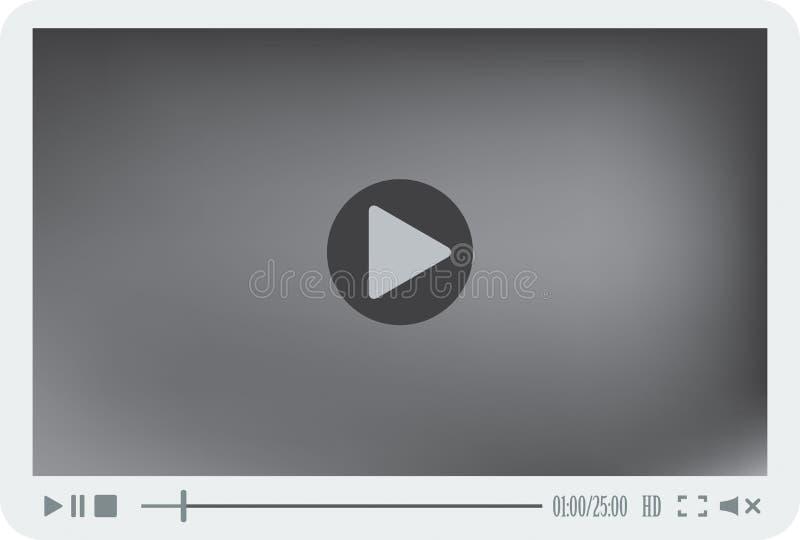 Player interface. Modern player interface. EPS 10 vector illustration stock illustration
