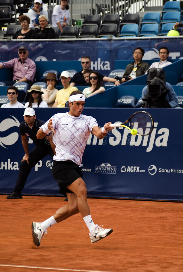 Download Player Lopez Return A Ball-1 Editorial Photography - Image: 19345702