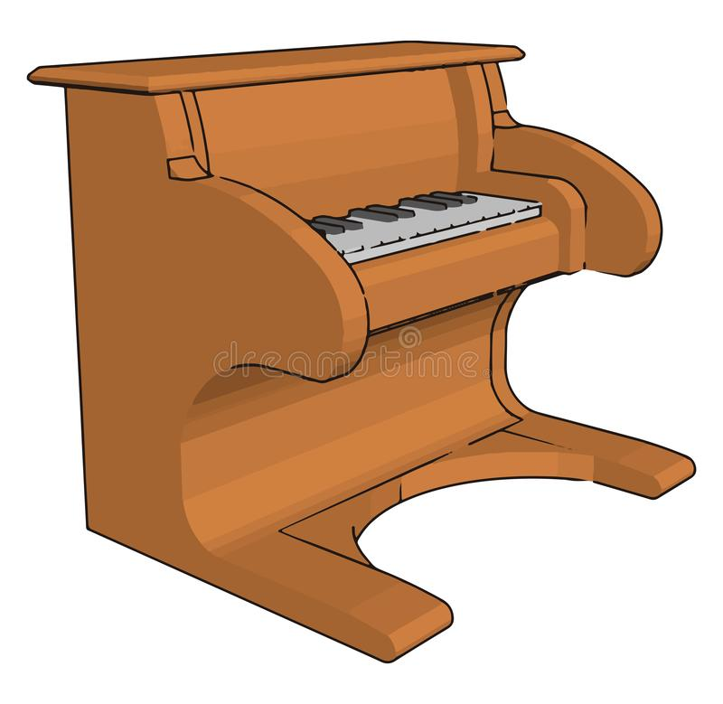 A player piano toy vector or color illustration royalty free illustration