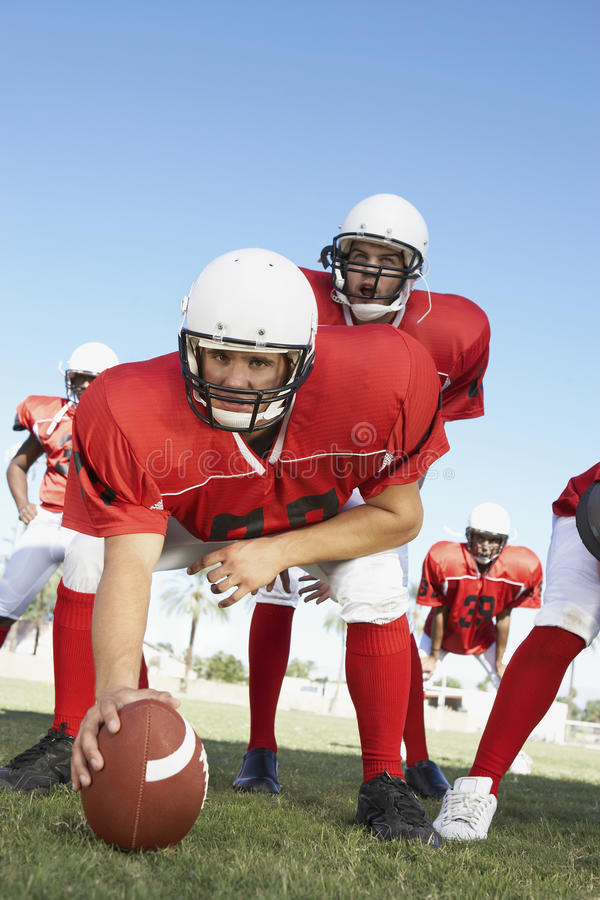 Player Placing The Ball On Field stock photography