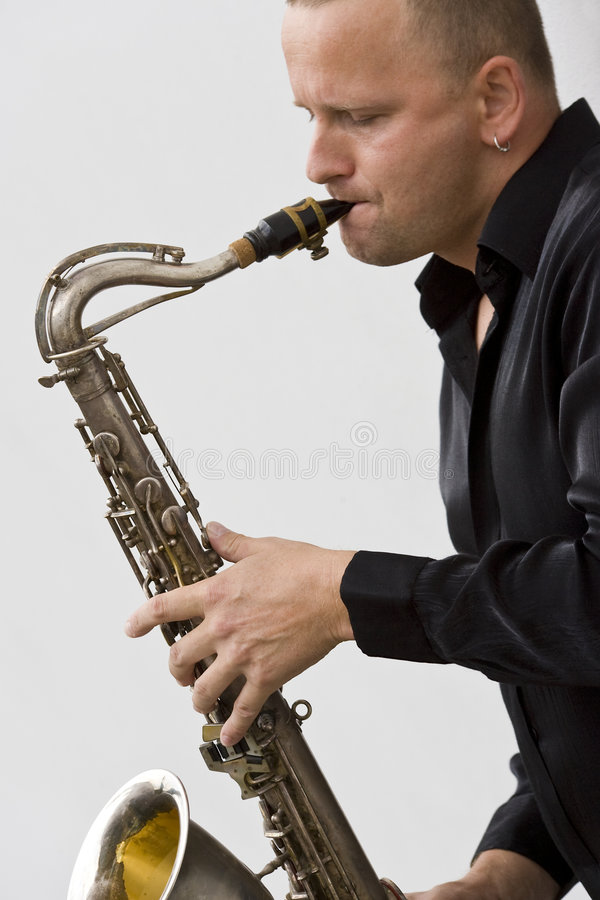player sax street στοκ φωτογραφίες