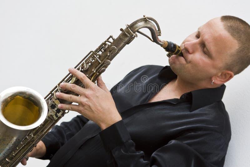 player sax street στοκ εικόνα με δικαίωμα ελεύθερης χρήσης