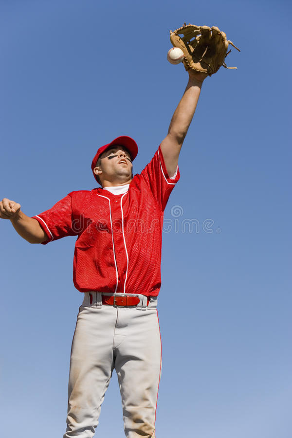 Download Player Trying To Catch stock image. Image of midair, glove - 29646095
