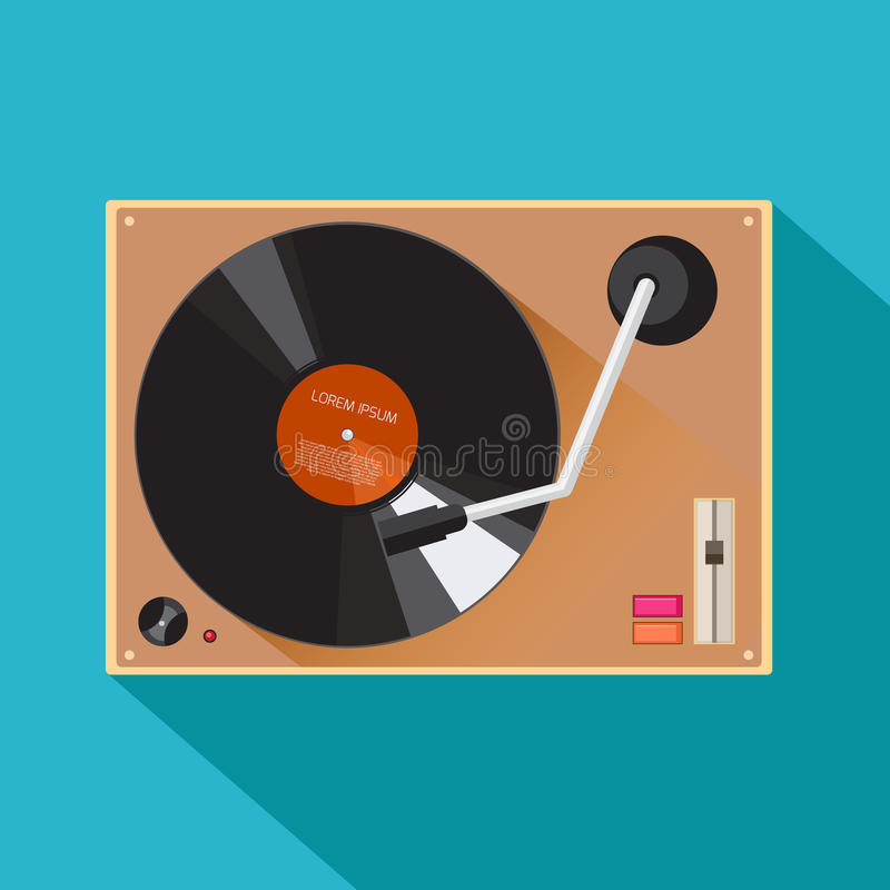 Player for vinyl record royalty free illustration