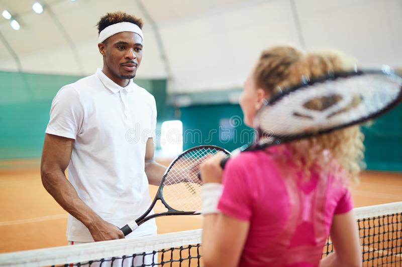 Players on court stock photography