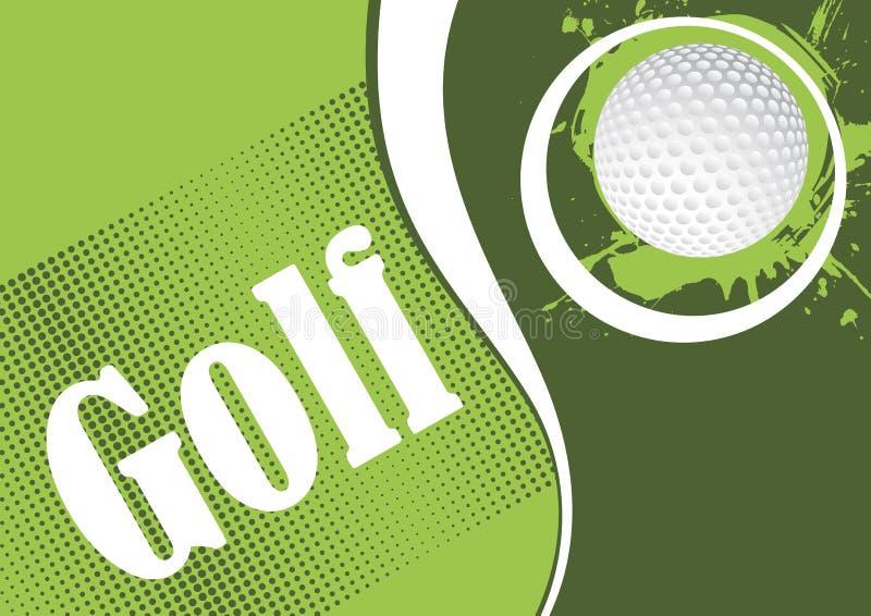 Playfield verde del golf stock de ilustración