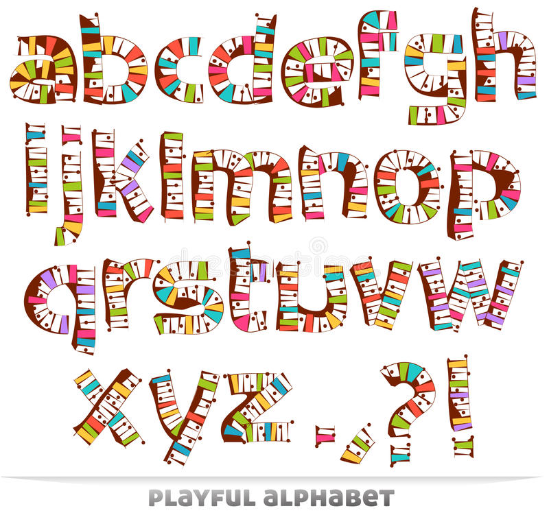Download Playful alphabet stock vector. Image of grungy, paint - 22983766