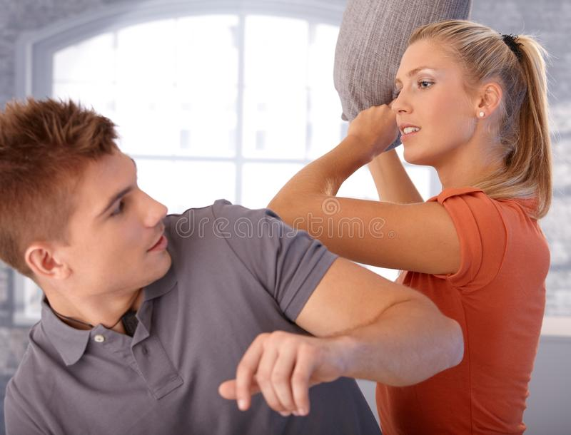 Download Playful Argument Of Young Couple Stock Photo - Image: 23992972